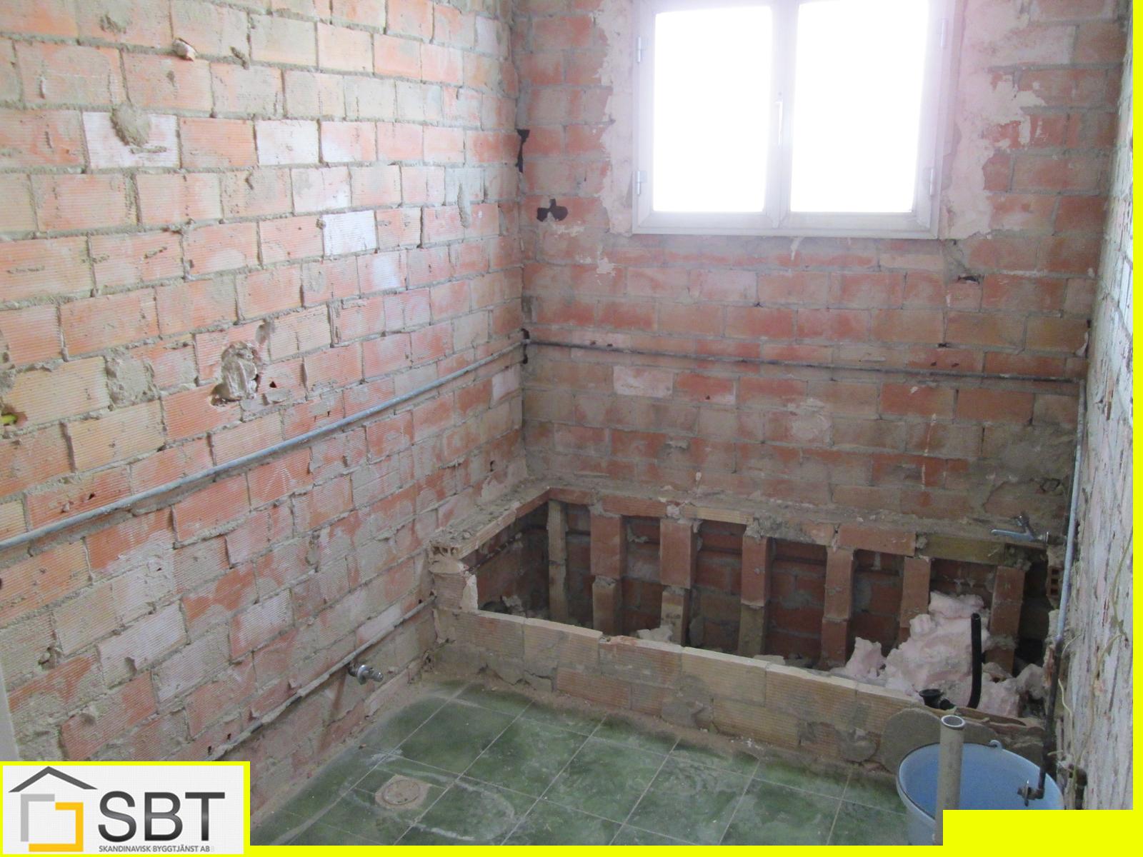 WC under ombyggnad
